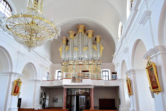 Photo: Orgle s 35 registri v župnijski cerkvi sv. Mohorja in Fortunata - Die Orgel mit 35 Registern in der Pfarrkirche St. Hermagor und Fortunatus - The organ with 35 stops in the parish church of St Hermagorus and Fortunatus