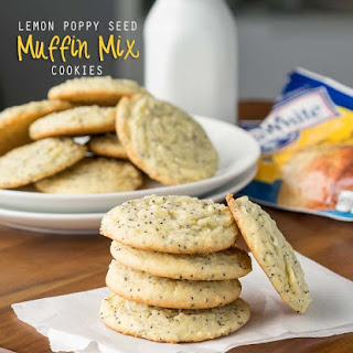 Lemon Poppy Seed Muffin Mix Cookies.