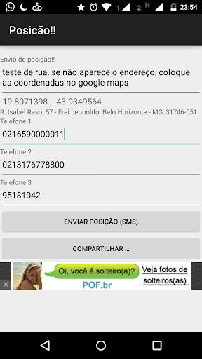 Posição -Envio de localização