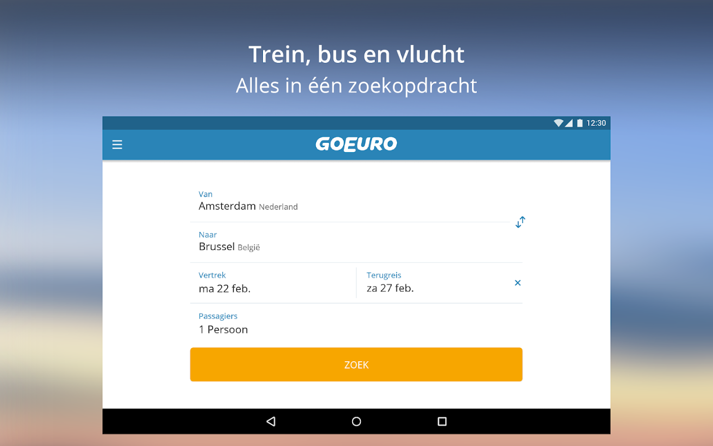 GoEuro: Trein, Bus & Vlucht: screenshot