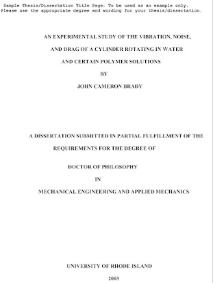 Sample Thesis Title In Secondary Education