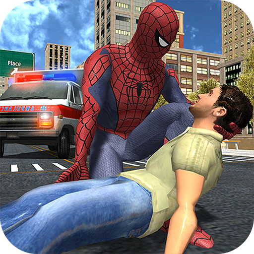 Rope Master Flying Spider Superhero Rescue Mission