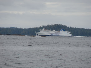 Photo: The BC Ferry churns up Seaforth Channel.