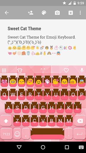 Sweet Cat Emoji Keyboard Theme