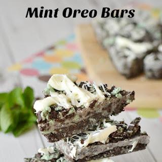 No Bake Mint Oreo Bars.
