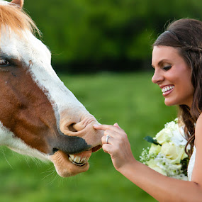 Horsing around at the shoot by Darby Byrd - Wedding Other