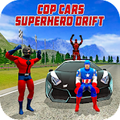 Cop Cars Superhero Drift & Stunt Simulator