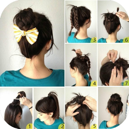 Hairstyles Tutorial Step By Step Aplicații Pe Google Play
