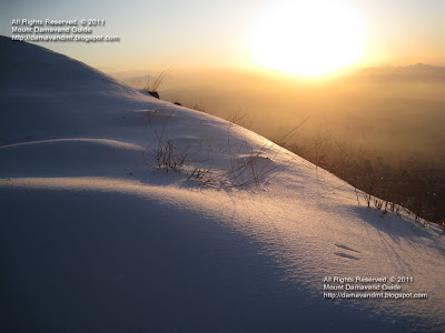 Mt Tochal Iran in Winter