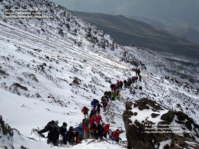 Climbing Damavand Iran
