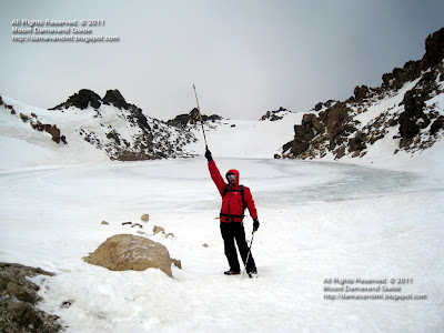 Iran Winter Climb, Mt Sabalan Summit