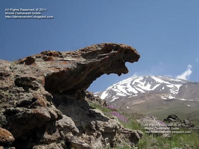 Volcano Damavand Iran