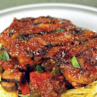 Grilled Chicken Cacciatore with Spaghetti Squash