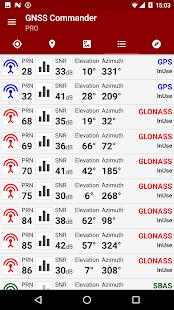 GNSS Commander - GPS status - náhled