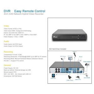 Sistem de supraveghere FULL HD Kit DVR cu 4 camere exterior / interior