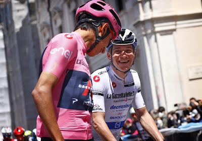"""Bernal plaagt Evenepoel op social media: """"Hey baas, ik heb je de sprint laten winnen"""""""