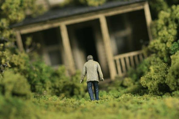 Homem solitário.