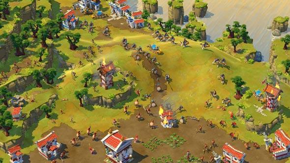 Cena de ataque em age of empires online.