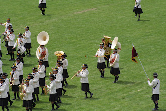 Photo: See the two girls with the tubas?  They're attached with neckstraps.  I'll take a sousaphone, thanks.