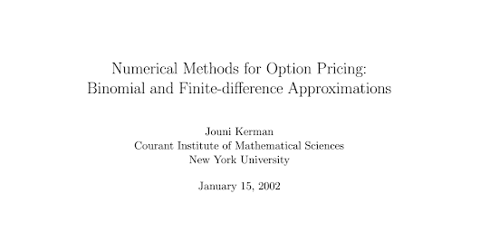 Kerman 2002 - Numerical methods for option pricing.pdf
