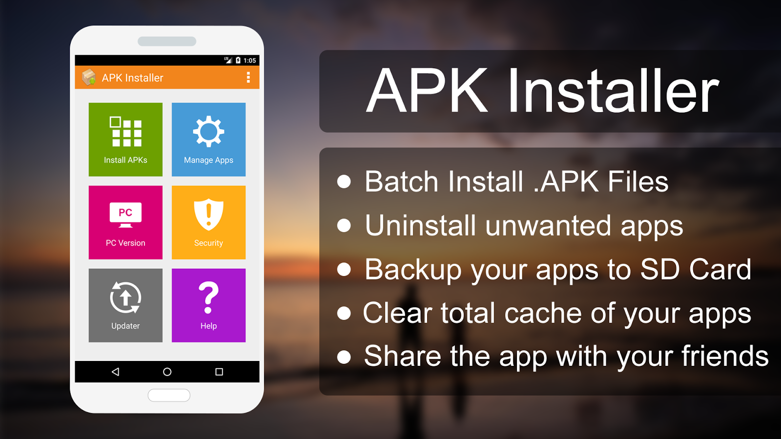 Screenshots of APK Installer for Android