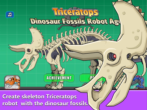 Triceratops Dinosaur Fossil Robot Age 1.0 {cheat hack gameplay apk mod resources generator} 5