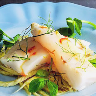 John Dory with fennel and saffron.