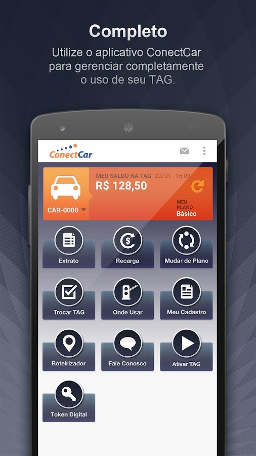 ConectCar Mobile: captura de tela