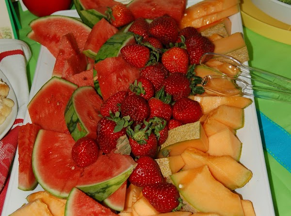 Wendy and friends sliced and arranged the lovely melon tray. The end of August...
