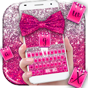 App Pink Glitter Bow Keyboard Theme APK for Windows Phone