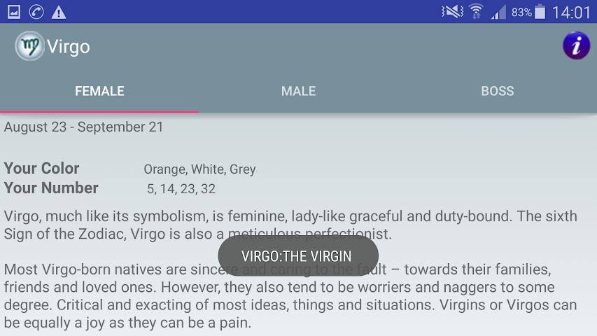 android Zodiac and Sun Signs Secrets Screenshot 21
