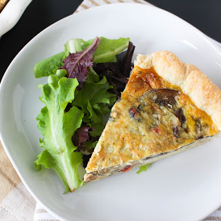Swiss Chard and Mushroom Quiche