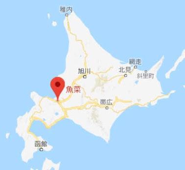 地図:居酒屋 魚菜