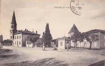 Photo: Orgueil (82) Centre du village - Lettre postée à Montauban en avril 1920 par le Dr COTTARD destinée à Mr LOUCHET à Marquise (62)
