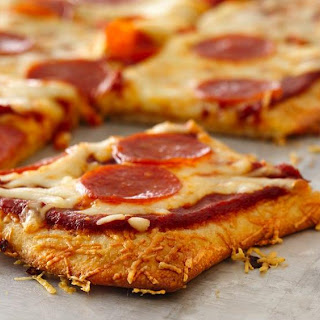 Parmesan Crusted Pepperoni Pizza.