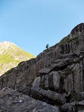 Photo: Le sentier acrobatique de montée à l'Etang Long