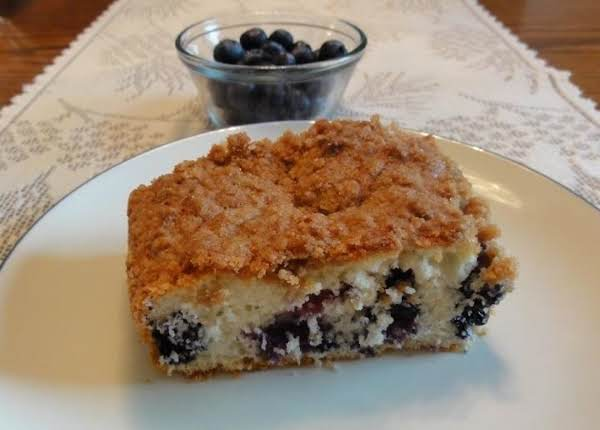Blueberry Snack Cake With Streusel Topping Recipe