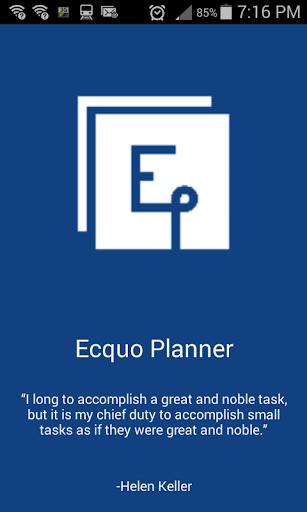 Ecquo Planner