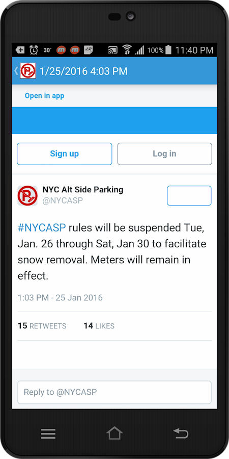 Alternate Side Parking Rules- screenshot