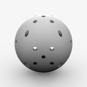 穴付きボール小