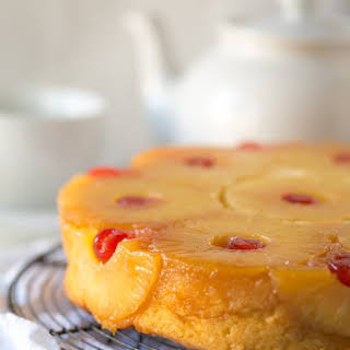Gluten Free Pineapple Upside Down Cake.