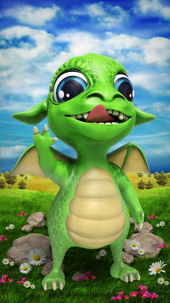 Talking dragon. Android App Screenshot