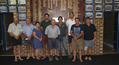 Committee: Rodney Onus, Peter McDonnell, Amanda Fowler, Jan Devawaere, Mick Coffey, James Kahl, Daniel Kahl, Wayne Nott and Robin Findley at a Narrabri Rugby Club committee meeting late last year. Absent from the photo are James Thomas, Colin Parkes, Zac Wilmott and Brett Nolan.