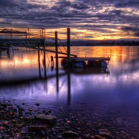 The little boat ramp by Charles Brooks - Landscapes Waterscapes