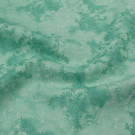 Mystic Vine Bomullstyg - ljusgrön