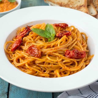 Red Chilli Pesto & Roasted Tomato Spaghetti Pasta