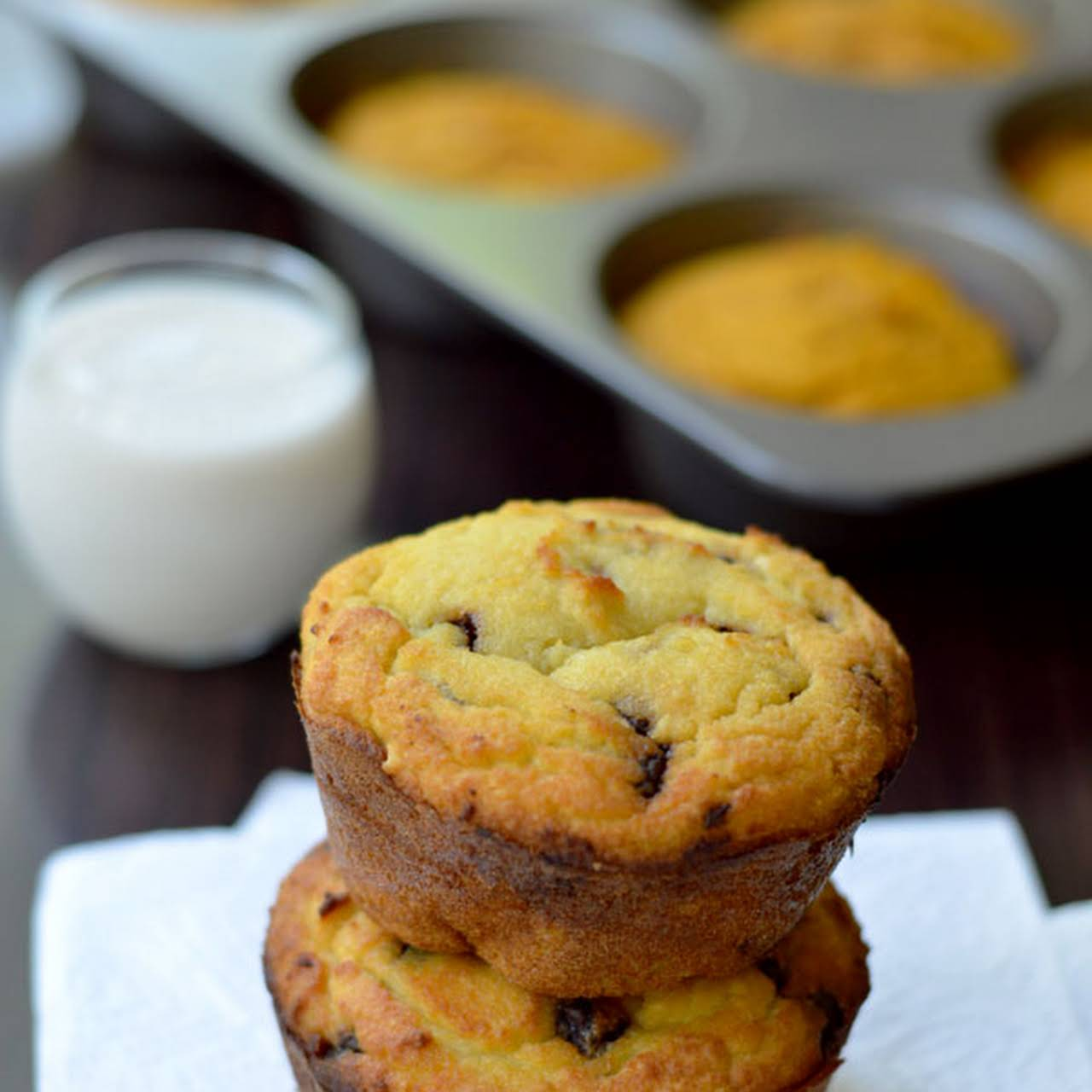 Chocolate Chip Coconut Flour Muffins