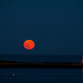 Shot this of the harvest moon this year at St Mary's By The Sea Black Rock Ct. by Andrew Medvegy - Landscapes Waterscapes (  )