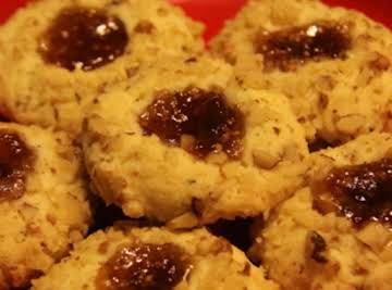 Goat Cheese and Rosemary Thumbprints with Fig Jam