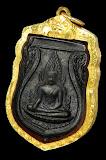 เหรียญพระพุทธชินราช อินโดจีน ปี ๒๔๘๕ พิมพ์สระอะขีด สวยๆเดิมๆ เลี่ยมทองพร้อมใช้